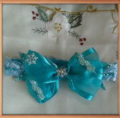 Frozen Theme Baby/Toddler Bow Made By Norma's Unique Gift Baskets.$6.99