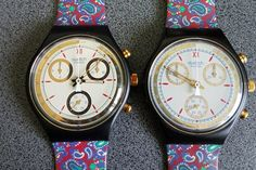 New 1991-1992 Swatch Watch Classic Chrono Award Genuine