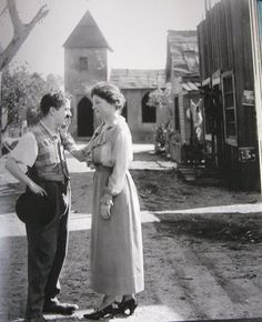 Charles Chaplin and Hellen Keller