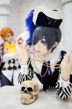 Anime Cosplay Black butler smile, book of circus cosplay, he looks so done - Ciel Cosplay, Cosplay Anime, Cosplay Makeup, Cosplay Outfits, Cosplay Ideas, Cosplay Style, Cosplay Boy, Joker Cosplay, Black Butler Cosplay