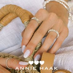 Choose from ANNIE HAAK's selection of gorgeous Sterling Silver rings and ring stacks. Featuring dainty charms and stunning colours, combine them to create your very own unique look. Stackable Rings, Annie, Sterling Silver Rings, Charms, Rose Gold, Colours, Create, Unique, Stacking Rings