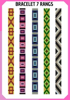 I wanted to exhibit you making a bracelet with natural stone and leather thread with video. Loom Bracelet Patterns, Bead Loom Bracelets, Bead Loom Patterns, Beaded Jewelry Patterns, Beading Patterns, Loom Bands, Bead Loom Designs, Seed Bead Crafts, Leather Thread