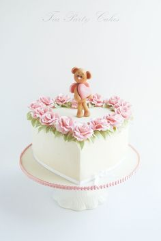 Heart shaped cake I made for a friend's little sweetheart...
