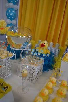 Rubber Ducks Baby Shower Party Ideas | Photo 8 of 37 | Catch My Party