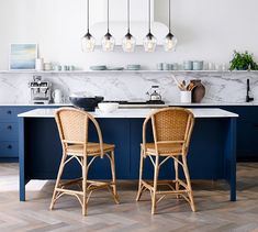 Add stylish bar seating to your home with bar stools and counter stools from Pottery Barn. Reclaimed Wood Counter, Wood Counter Stools, Bar Counter, Dining Stools, Dining Room, Woven Bar Stools, Parisian Kitchen, French Bistro Kitchen, Curtains For Sale
