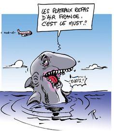 les requins, Airfrance