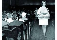 Remember when the ice cream lady walked down the cinema aisle in the interval to sell ice cream tubs and refreshments from her little tray.