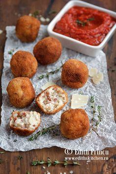 Un snack delicios pentru orice petrecere. Mozzarella, Pot Pasta, Arancini, Snack, Coco, Edith's Kitchen, Muffin, Gluten Free, Romania