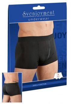 Čierne boxerky so širokým pohodlným pásom a s vnútorným elastickým vreckom s push-up efektom. http://www.sexshop.sk/detail/18147/2132079-1711-panske-push-up-boxerky/