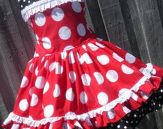 Items similar to Custom Boutique Minnie Dot Dress Halter Mouse Vacation Cruise Disney Fabric Twirl Mickey Princess HTF OOP 2 3 4 5 6 on Etsy