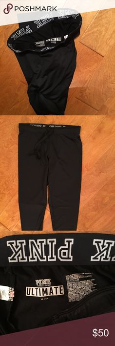 PINK Victoria's Secret ultimate gym pants. NWT Victoria's Secret PINK ultimate  Gym pants. XS brand new.. never been worn..  BLACK new with tags!!! PINK Victoria's Secret Pants Track Pants & Joggers