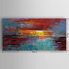 Hand-Painted Abstract Horizontal, Modern Canvas Oil Painting Home Decoration One Panel 2018 - $83.58