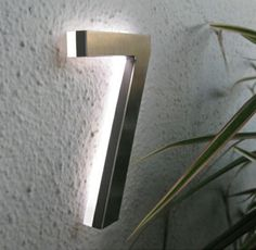 Light Up House Numbers - Ideas on Foter - Home decor Led Porch Light, Porch Lighting, Outdoor Lighting, House Lighting, Club Lighting, Entrance Lighting, Metal House Numbers, House Numbers Modern, Solar House Numbers