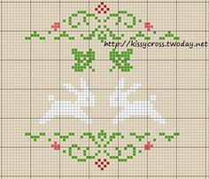 counted cross stitch bunny