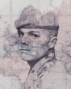 Stunning Ink and Pencil Drawings of Human Faces Emerge from Maps - My Modern Met