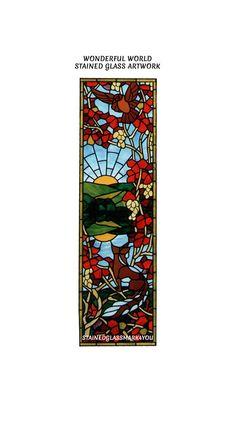 Wonderful World Stained Glass. Decorative by Stainedglassmark4you