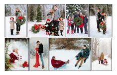 Новогодняя фотосессия, новгодняя фотосъемка Киев, новогодний коллаж из фотографий, фотосессия на улице зимой