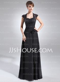 Mother of the Bride Dresses - $162.49 - A-Line/Princess Sweetheart Floor-Length Chiffon Mother of the Bride Dresses With Ruffle Lace Flower(s) (008006153) http://jjshouse.com/A-Line-Princess-Sweetheart-Floor-Length-Chiffon-Mother-Of-The-Bride-Dresses-With-Ruffle-Lace-Flower-S-008006153-g6153