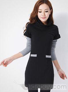 ツーピースセット 韓国風的 長袖 生き生き スリム  (10447872)