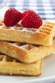 gluten free waffles. (sweet rice flour & added vanilla)