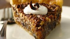 Chocolate Pecan Pie. This is my favorite thing from Cracker Barrel during the holidays! I've gotta try this recipe.