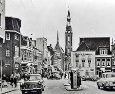 Groningen<br />Groningen: Het Zuiderdiep op de hoek met de Rademarkt in 1959