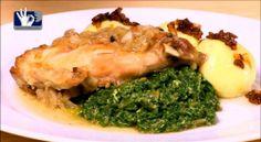 pečený králík bramborové knedlíky a špenát Broccoli, Food And Drink, Chicken, Vegetables, Vegetable Recipes, Cubs