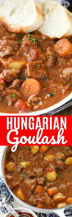 The Rise Of Private Label Brands In The Retail Meals Current Market Hungarian Goulash Is The Best Comfort Food You Will Make All Winter. My House Has Never Smelled Better Casserole Recipes, Meat Recipes, Slow Cooker Recipes, Crockpot Recipes, Dinner Recipes, Cooking Recipes, Stewing Beef Recipes, Snacks Recipes, Holiday Recipes