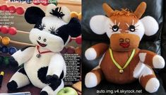 Tuto Vache en laine, tricot et crochet Chat Crochet, Crochet Cow, Bowser, Diy And Crafts, Mickey Mouse, Miniatures, Blanket, Christmas Ornaments, Holiday Decor