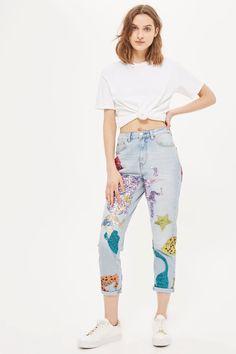 MOTO Mermaid Mom Jeans - Topshop