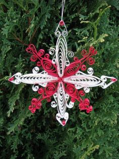 Quilled Christmas Ornament by NatureMaidTreasures