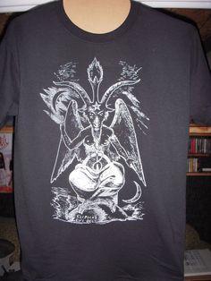 Baphomet T-shirt (FREE SHIPPING) Occult Satanism Aleister Crowley Anton Lavey Mystic Magic Spiritual. $15.00, via Etsy.