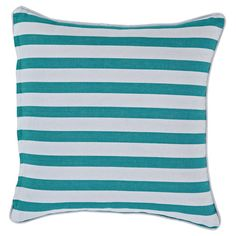 Décor For The Home: Cushions & Lanterns Outdoor Stools, Striped Cushions, Shades Of Blue, Lanterns, Decorative Pillows, Indoor, Gelato, Throw Pillows, Home