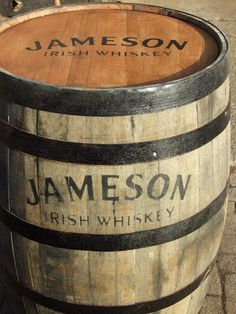 Custom barrel for Jameson Whiskey. I'm sending this from Ireland. My favorite and part of one of my grandson's names (his parents vistited the distillery). Whiskey Girl, Good Whiskey, Scotch Whiskey, Bourbon Whiskey, Whiskey Distillery, Fun Drinks, Alcoholic Drinks, Beverages, Cocktails