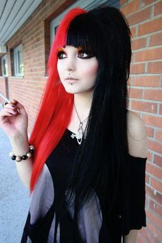 Red and black hair x