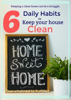 Habits to Keep Your House Clean / Keep Your House Clean / Clean House / Habits / Quick Cleaning Tips