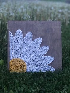 Items similar to Daisy String Art, Made to Order on Etsy Daisy String. - Items similar to Daisy String Art, Made to Order on Etsy Daisy String Art Made to Order - String Art Templates, String Art Tutorials, String Art Patterns, String Wall Art, Nail String Art, Disney String Art, String Art Heart, String Crafts, Cute Crafts
