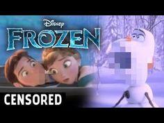 Unnecessarily Censored Disney's Frozen Movie - Part 2 - #funny #Disney #Frozen