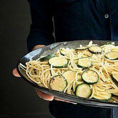 Zucchini Spaghetti with Saffron Sauce