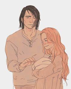 Sandor, Sansa and a baby