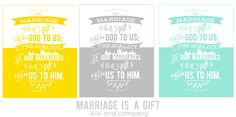 Free Marriage Print. Perfect for a wedding or anniversary gift! #generalconference