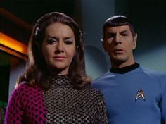 "Star Trek: Mr. Spock and the Romulan commander in ""The Enterprise Incident"""