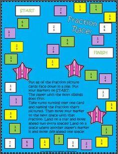 Free Fractions Activity | school | Pinterest | Fraction activities ...