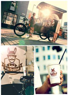 Espresso prepared from coffee cart in Bratislava. #cart #coffee #Bratislava #tricycle #PanKralicek