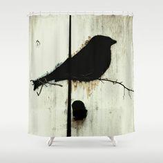 Early Bird - JUSTART © Shower Curtain by JUSTART - $68.00 #justart #society6 #shower-curtain #home #decor #bathroom #bird #animal
