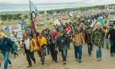 Protesters demonstrate against the Energy Transfer Partners' Dakota Access pipeline near the Standing Rock Sioux reservation in Cannon Ball, North Dakota on Friday.