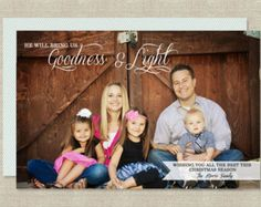 Christian Christmas Card, Goodness and Light, Religious, Printbale Holiday Card