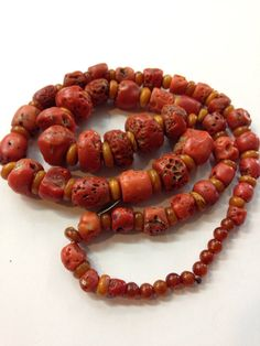 Antique Tibetan natural coral necklace on Etsy, $2,000.00