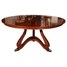 Mahogany Round Dining Table By John Widdicomb