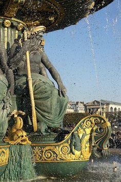 Fountain of the Rivers, Concorde square, Paris